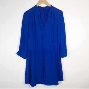 Aritzia Babaton Silk Bennett Dress Royal Blue Silk